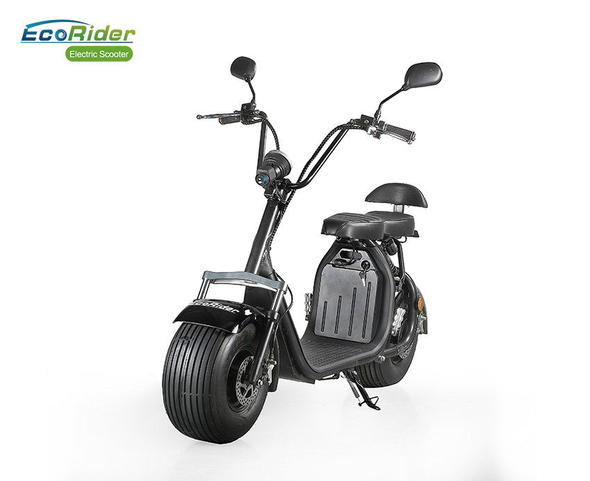EcoRider 60v 12ah 1500 W Two Wheels Electric Scooter , 2 Wheel Motor Scooter With Removable Battery and double seat