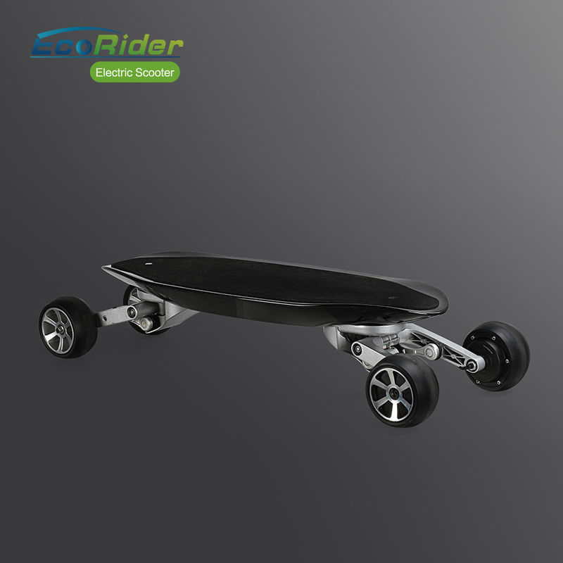 1000W 36V 4 Wheels Brushless Electric Skateboard Carbon Fiber 5 Inch Solid Tire